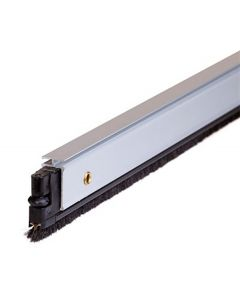Burlete bajo puerta 082cm tornillos alma aluminio blanco almalock-2 cepillo 4al2082005