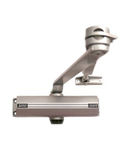 Cierrapuertas brazo retenedor plata 1432 justor