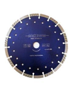 Disco corte profesional segmentado turbo 230 mmx10mm macodiam mat34t230-10