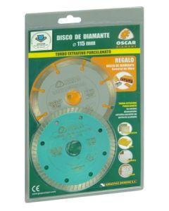 Disco corte porcelanico turbo 115 mm oscar diamant d115 extra+regalo