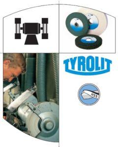Muela herramienta electrica afilado plana acero 125x20x32mm 10 a60 gris tyrolit 147626