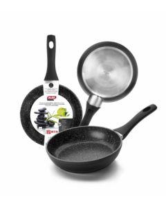Sarten cocina antiadherente teflon 24cm aluminio forjado ibili 440024