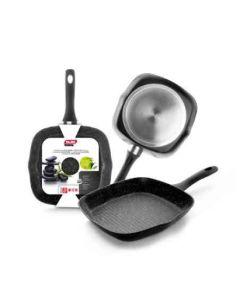 Grill cocina plancha rayas con mango 28cm aluminio fundido ibili 440128