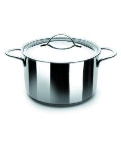 Olla cocina con tapa 28cm acero inox noah ibili