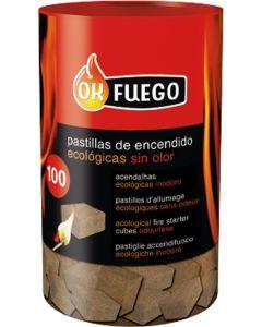 Pastilla encendido barbacoa ecologica ok fuego 100 pz 1-50212         97520
