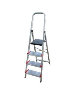 Escalera domestica 8 peldaños 1,65mt aluminio new plus ktl
