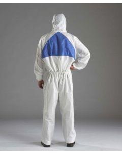 Mono trabajo l desechable 3m polietileno con capucha me blanco/azul
