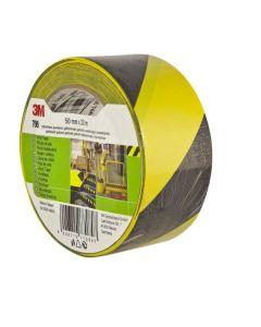 Cinta adhesiva 50mmx 33mt señalizacion 3m vinilo negra/amarilla 764 764anbl=7000062455
