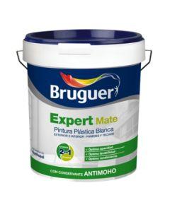 Pintura plastica mate exterior 4 lt blanco expert bruguer 5208093