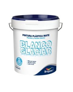 Pintura plastica mate interior 4 lt blanco glaciar bruguer 5208049