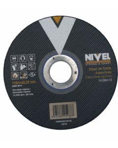 Disco corte inox 115x1x22 mm nivel