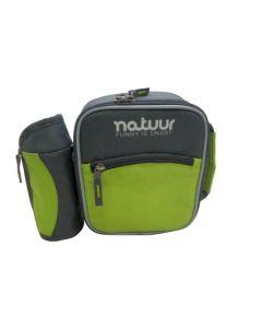 Nevera camping flexible porta botellas 3lt verde/gris natuur