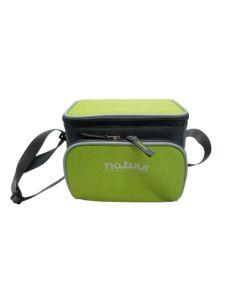 Nevera camping flexible 05lt verde/gris natuur