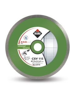 Disco corte porcelanico banda continua 115x22,2 mm csv115pro rubi 25910