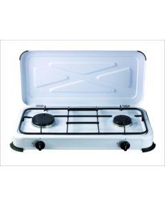 Cocina portatil a gas 2 fuegos 580x330x90mm 1,4 /1,2 kw vivahogar vh99260