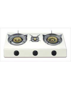 Cocina portatil a gas 3 fuegos 700x370x80cm 4,3/3,4/0,75 kw vivahogar vh99263         99263