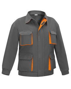 Cazadora trabajo multibolsillo t48 algodon 100% gris/naranja cargo vesin