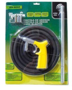 Pistola arenar/granillar 9 bar maximo manguera 12x18mm 3mt 100lt/min ne-kn8040 cevik