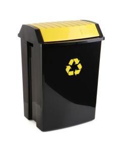 Contenedor reciclaje 50 lt 40x35,5x57,5cm plastico amarillo tatay 1102302