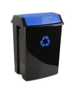 Contenedor reciclaje 50 lt 40x35,5x57,5cm plastico azul tatay 1102300