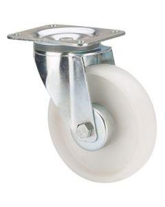 Rueda giratoria platina 170kg 125mm poliamix blanco ruedas alex tw0198