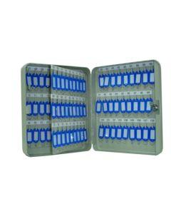 Armario llavero 108 llaves metalico gris vivahogar