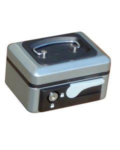 Caja alhajas con pulsador 152x115x80mm plata n.1 vivahogar