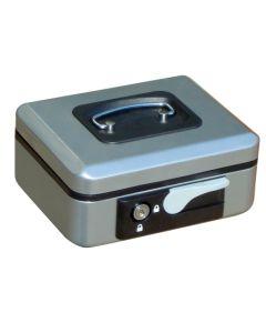 Caja alhajas con pulsador 200x160x90mm plata n.2 vivahogar