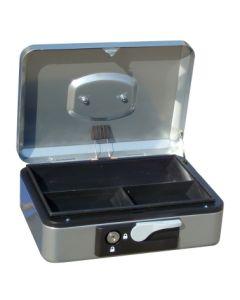 Caja alhajas con pulsador 300x240x90mm plata n.4 vivahogar