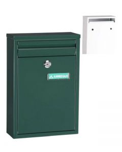 Buzon exterior vertical 320x220x80mm acero verde zaguan arregui