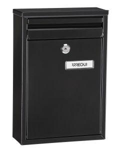 Buzon exterior vertical 320x220x80mm acero negro zaguan arregui